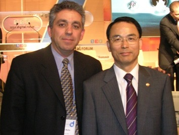 Farhad Mafie with Dr. Daeje Chin, Korea Minster of Information & Communication