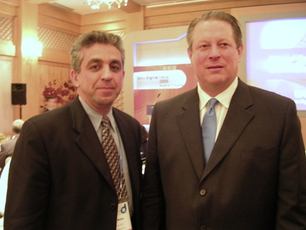 Farhad Mafie with Al Gore Former Vice President